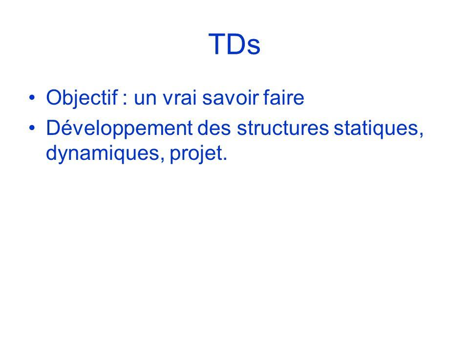 TDs Objectif : un vrai savoir faire