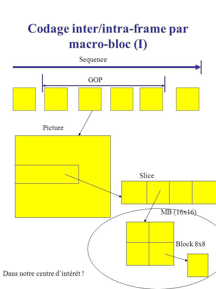 Codage inter/intra-frame par macro-bloc (I)