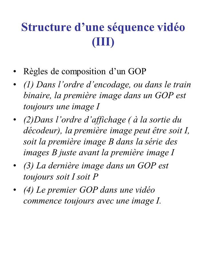 Structure d'une séquence vidéo (III)