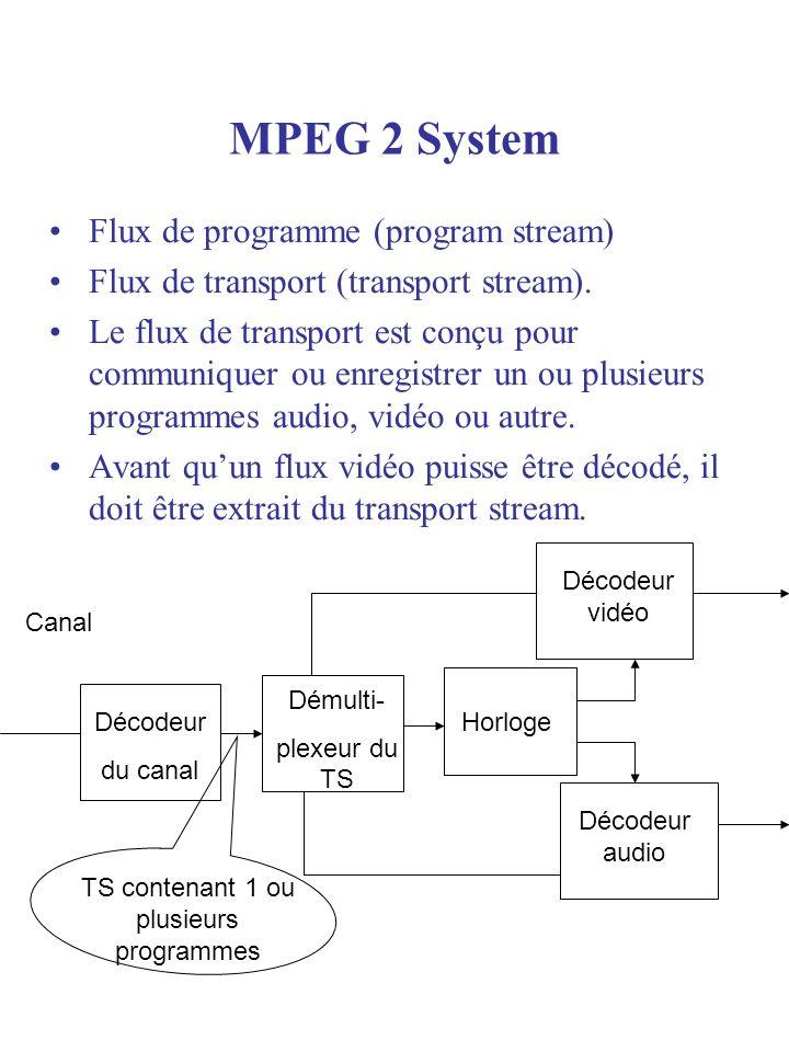 TS contenant 1 ou plusieurs programmes