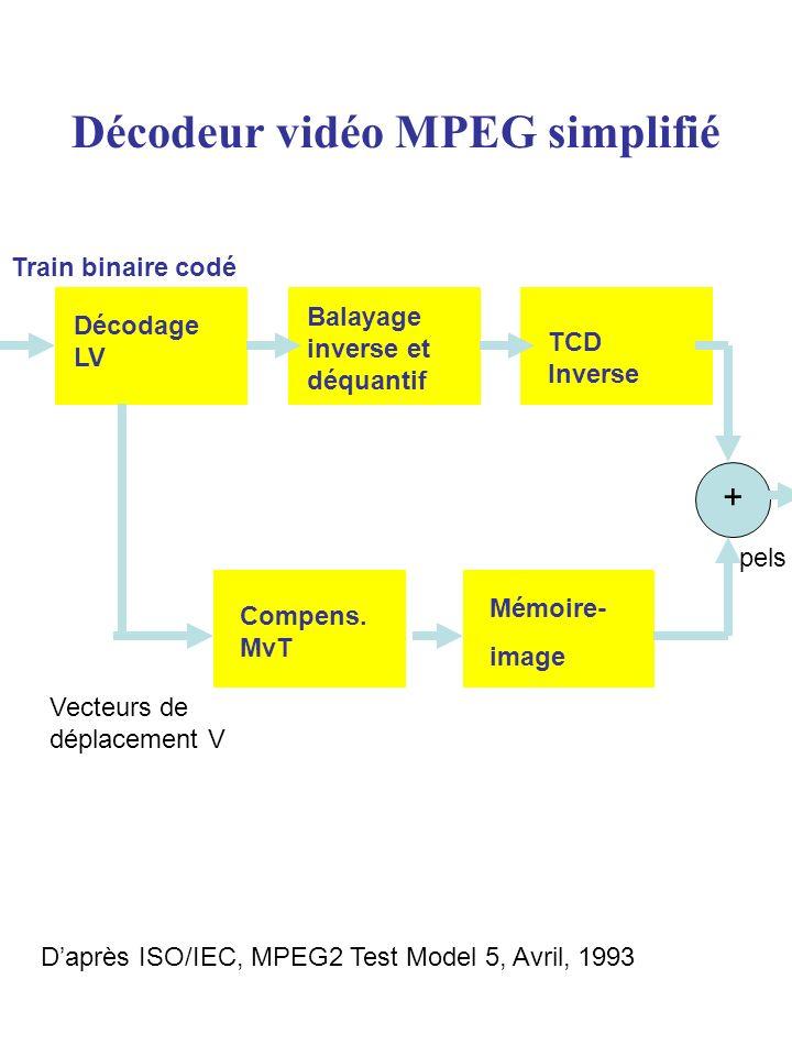 Décodeur vidéo MPEG simplifié