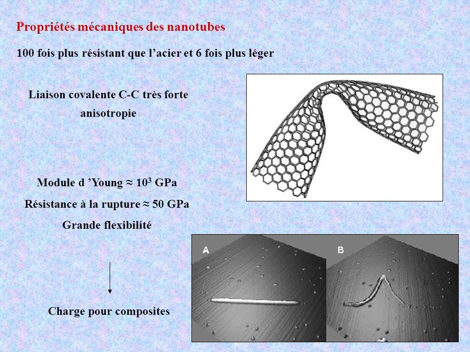Propriétés mécaniques des nanotubes