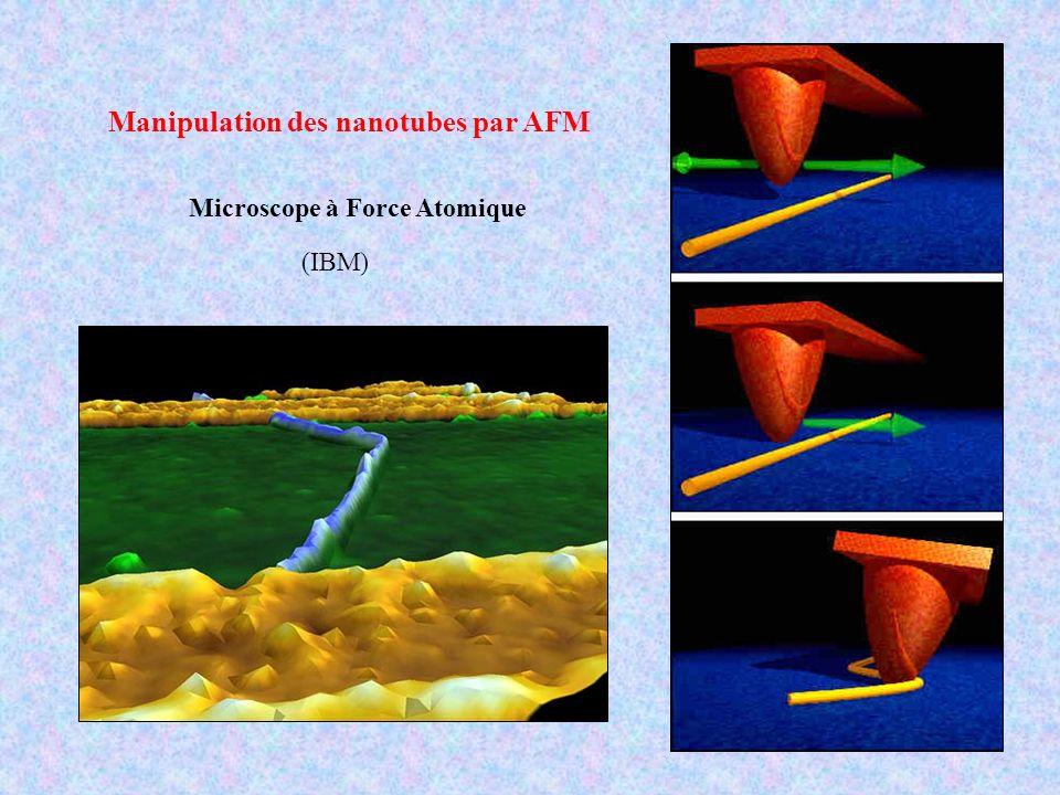 Manipulation des nanotubes par AFM Microscope à Force Atomique