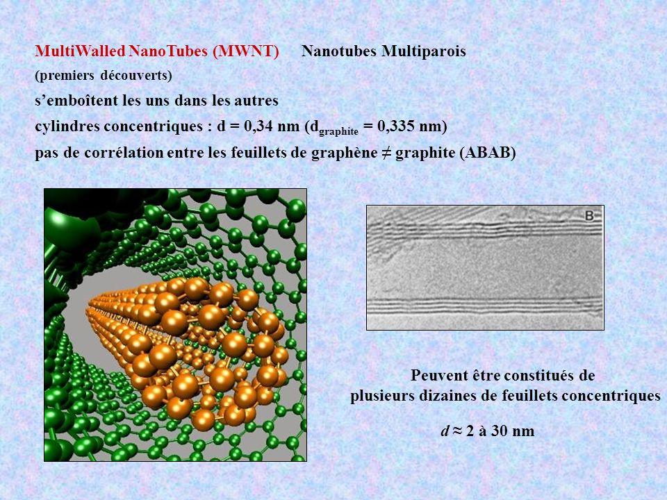 MultiWalled NanoTubes (MWNT) Nanotubes Multiparois