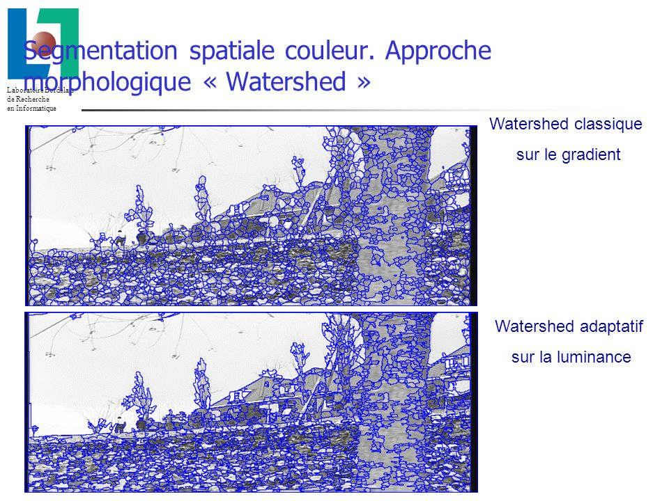 Segmentation spatiale couleur. Approche morphologique « Watershed »