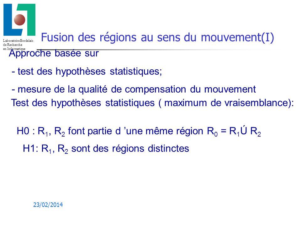 Fusion des régions au sens du mouvement(I)