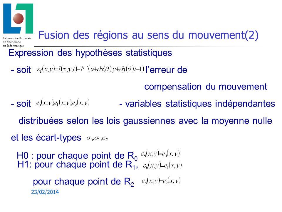Fusion des régions au sens du mouvement(2)