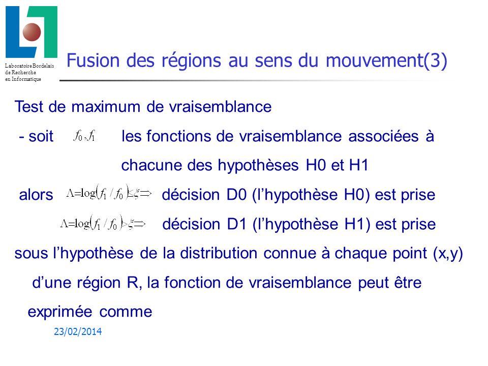 Fusion des régions au sens du mouvement(3)