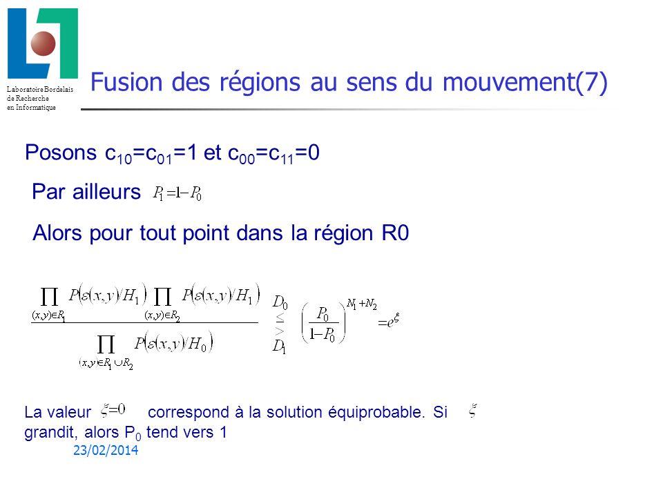 Fusion des régions au sens du mouvement(7)