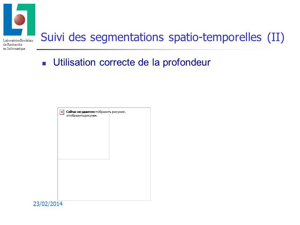 Suivi des segmentations spatio-temporelles (II)