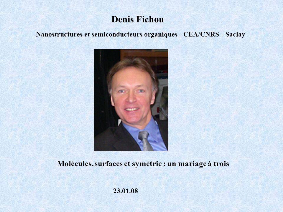 Denis Fichou Molécules, surfaces et symétrie : un mariage à trois