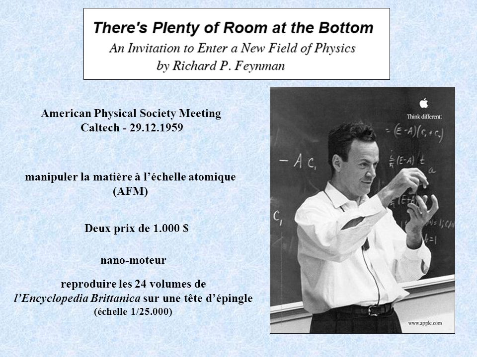 American Physical Society Meeting Caltech - 29.12.1959