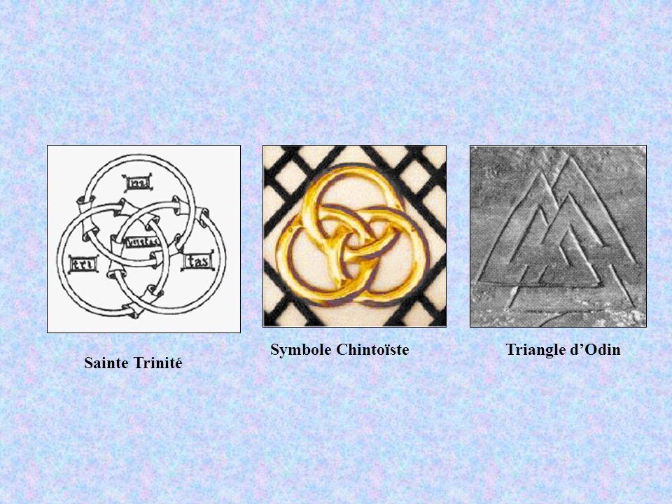 Symbole Chintoïste Triangle d'Odin Sainte Trinité