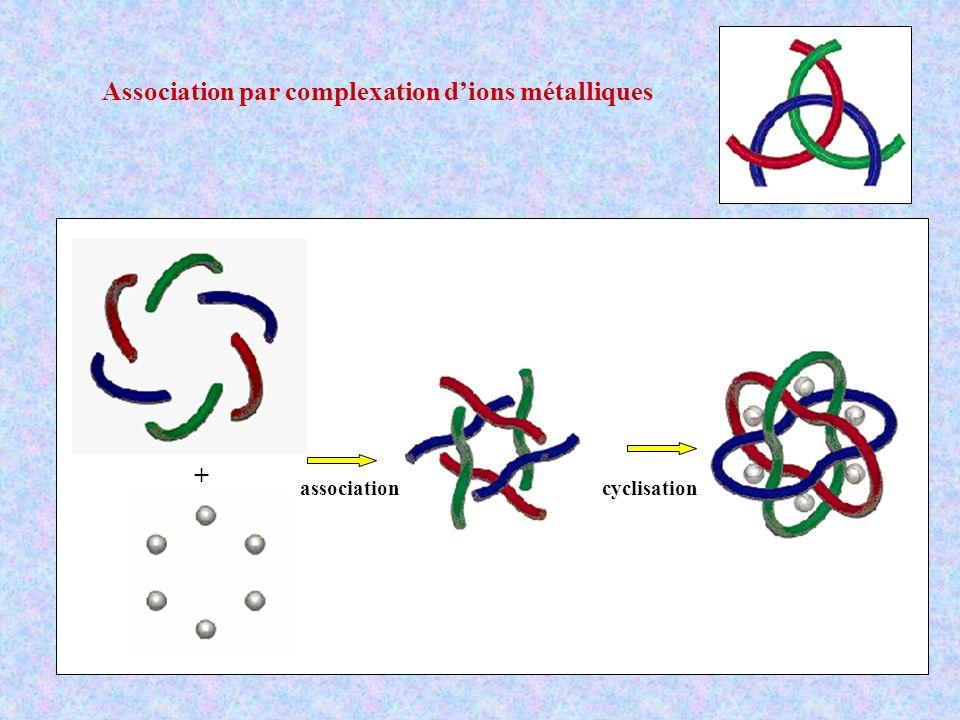 Association par complexation d'ions métalliques