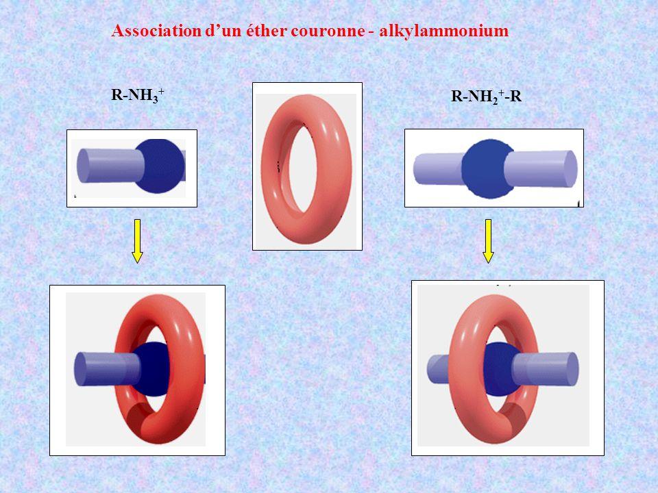 Association d'un éther couronne - alkylammonium