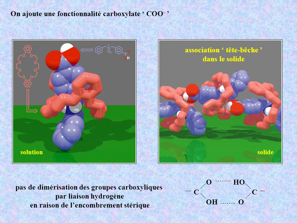 On ajoute une fonctionnalité carboxylate ' COO- '
