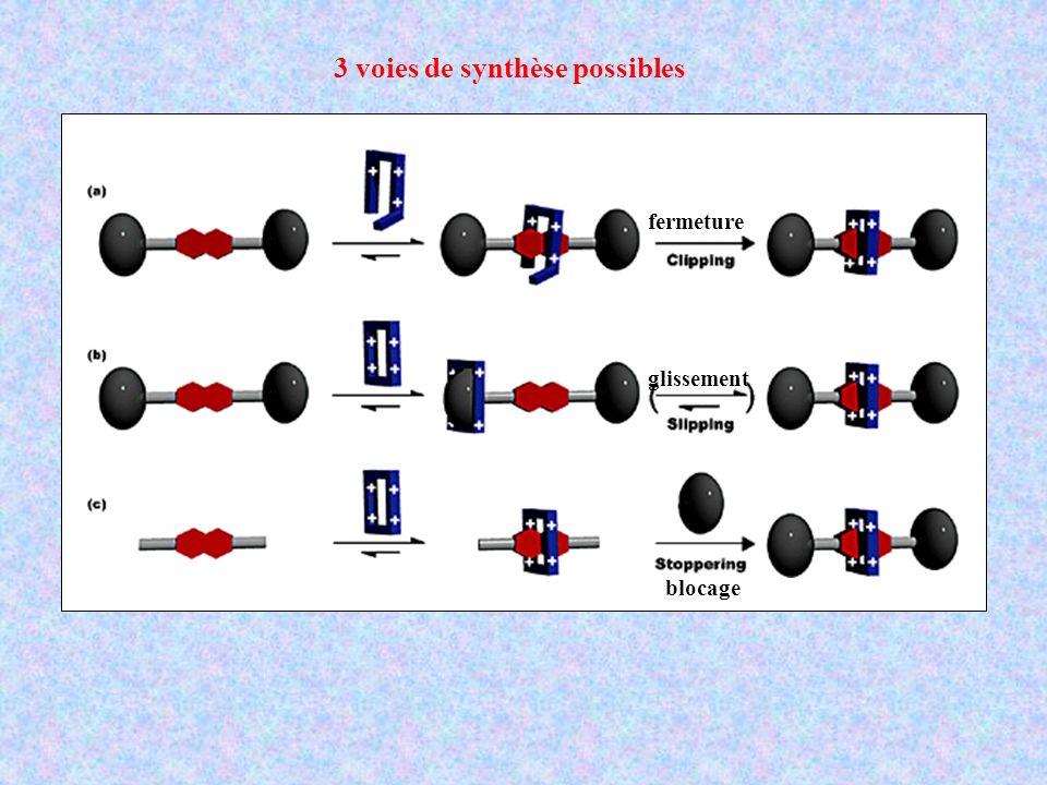 3 voies de synthèse possibles