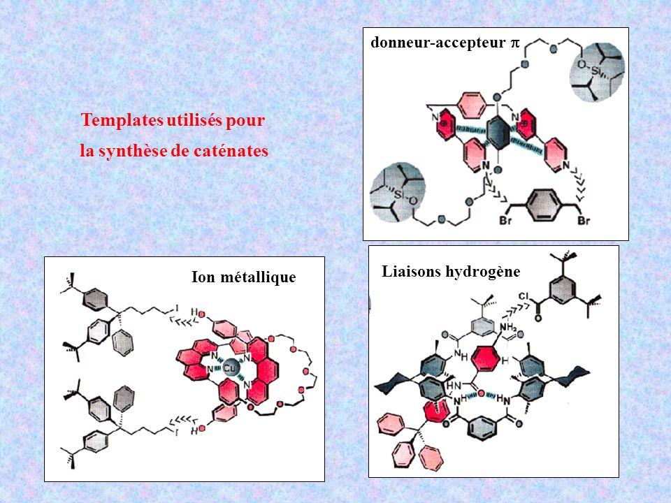 Templates utilisés pour la synthèse de caténates