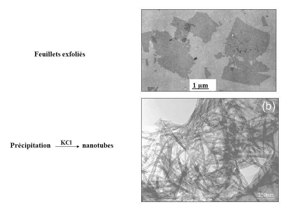 Précipitation nanotubes