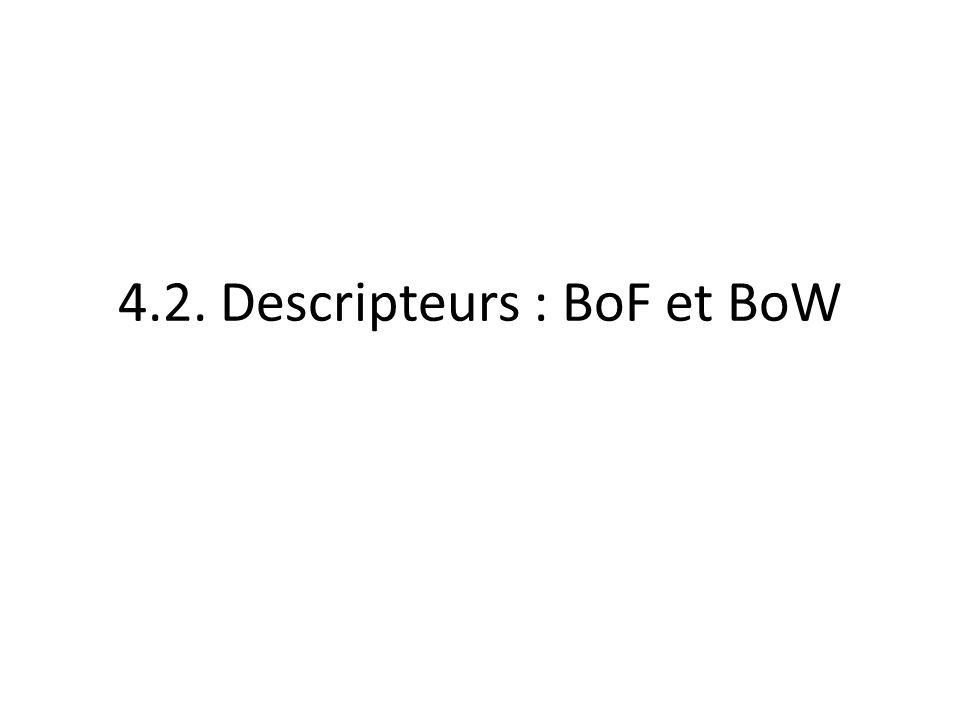 4.2. Descripteurs : BoF et BoW
