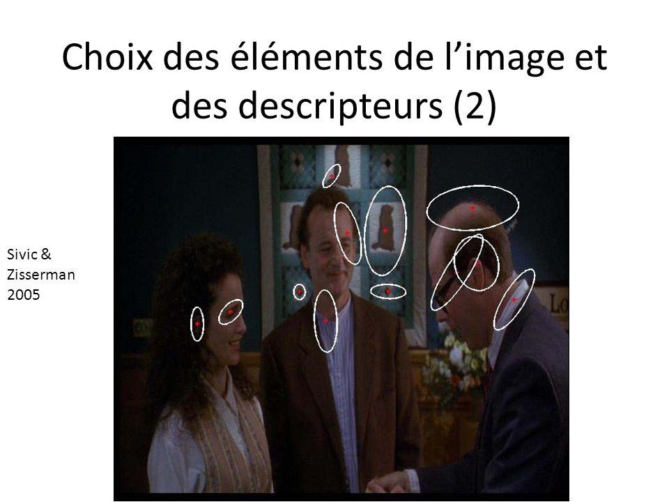 Choix des éléments de l'image et des descripteurs (2)