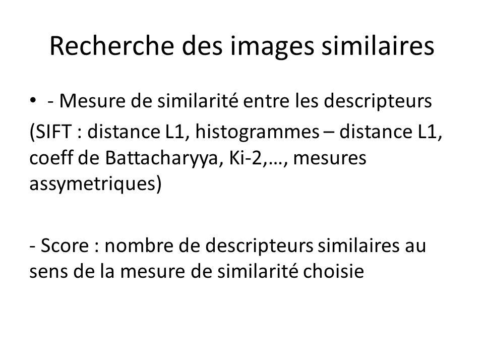 Recherche des images similaires