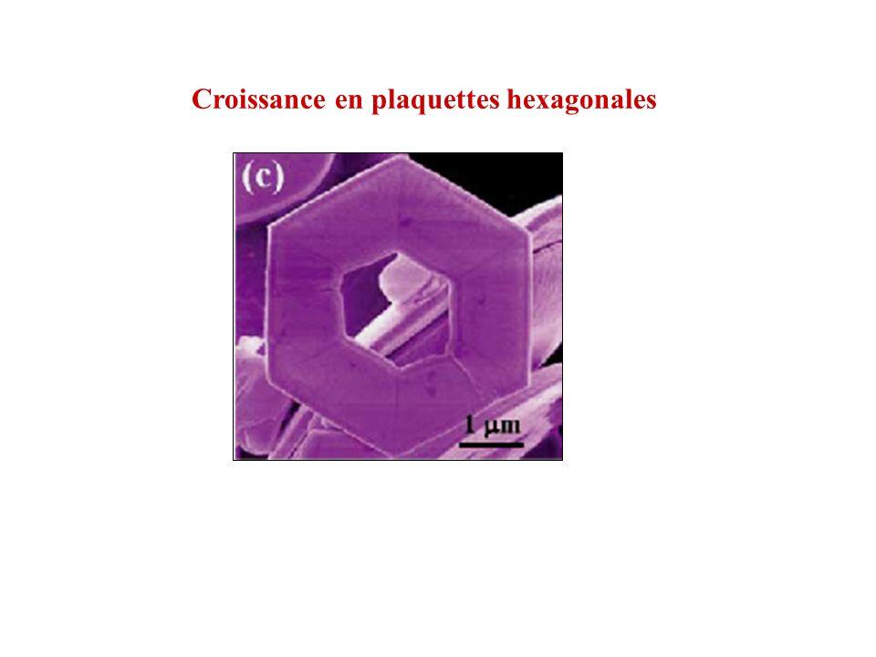 Croissance en plaquettes hexagonales