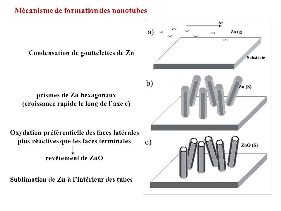 Mécanisme de formation des nanotubes