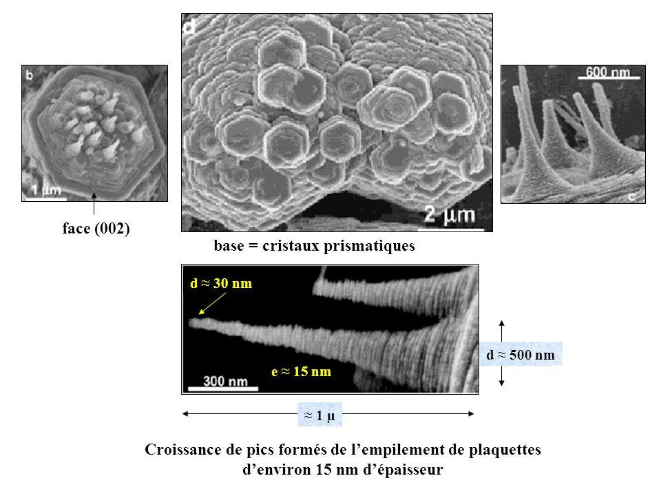 base = cristaux prismatiques