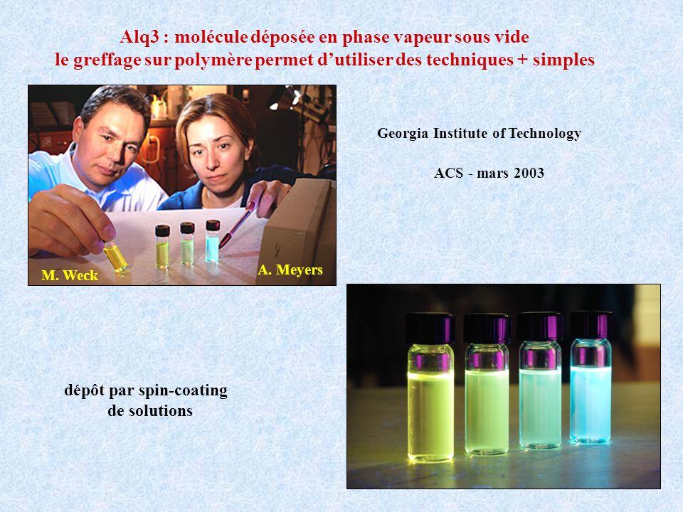 Alq3 : molécule déposée en phase vapeur sous vide
