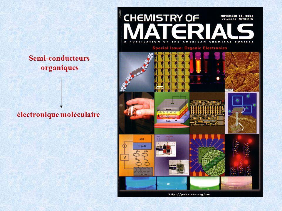 Semi-conducteurs organiques électronique moléculaire