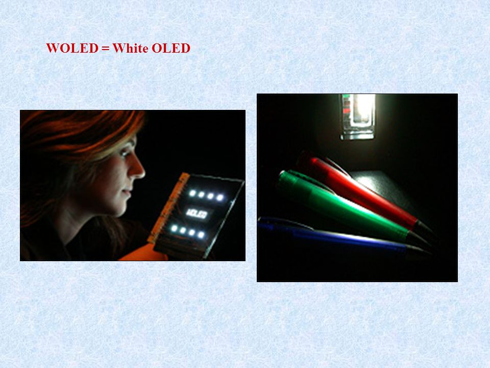 WOLED = White OLED