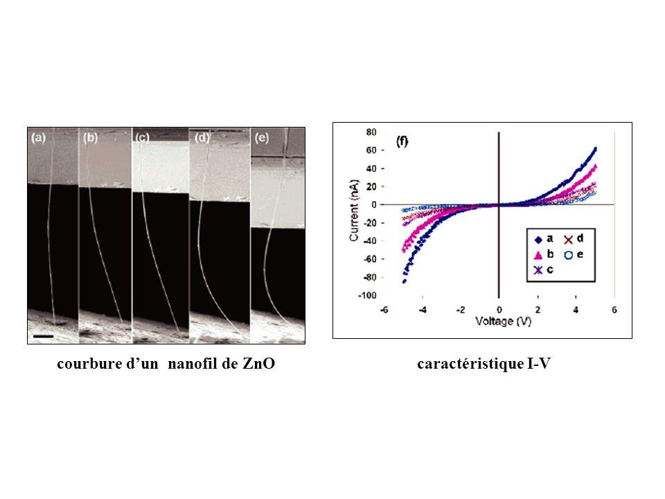 courbure d'un nanofil de ZnO