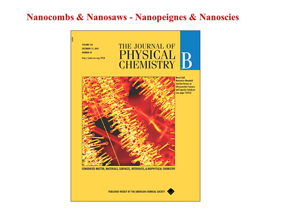 Nanocombs & Nanosaws - Nanopeignes & Nanoscies