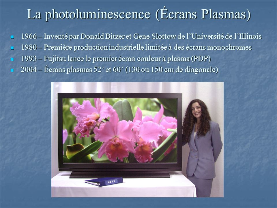 La photoluminescence (Écrans Plasmas)