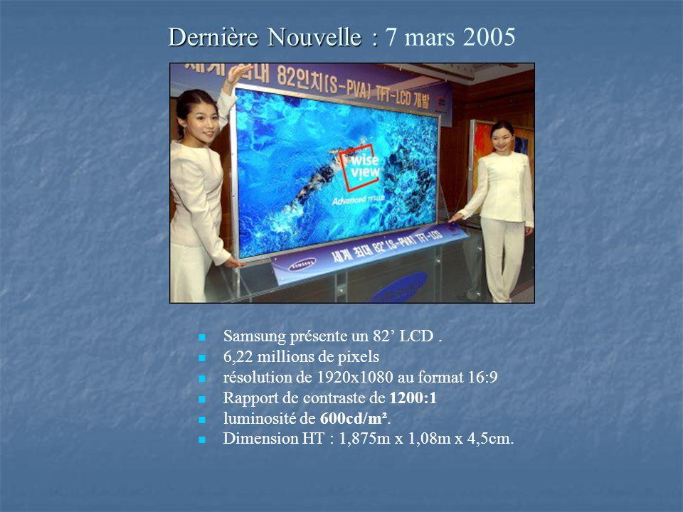 Dernière Nouvelle : 7 mars 2005