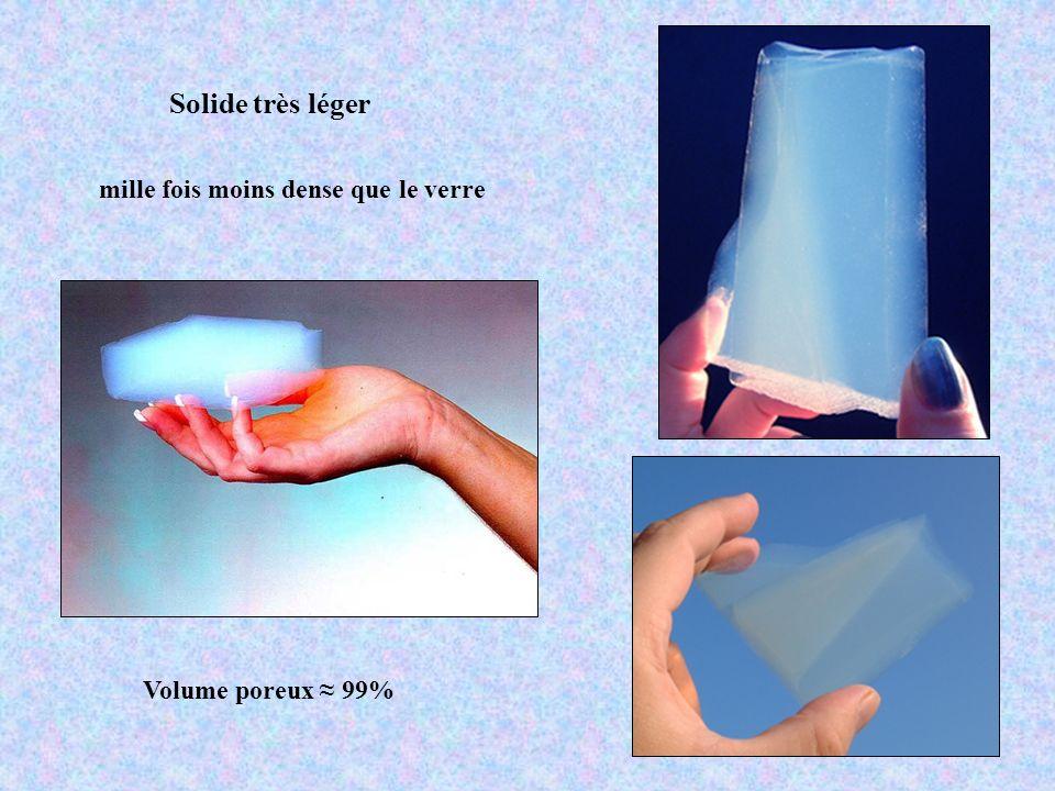 Solide très léger mille fois moins dense que le verre