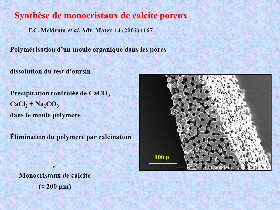 Monocristaux de calcite