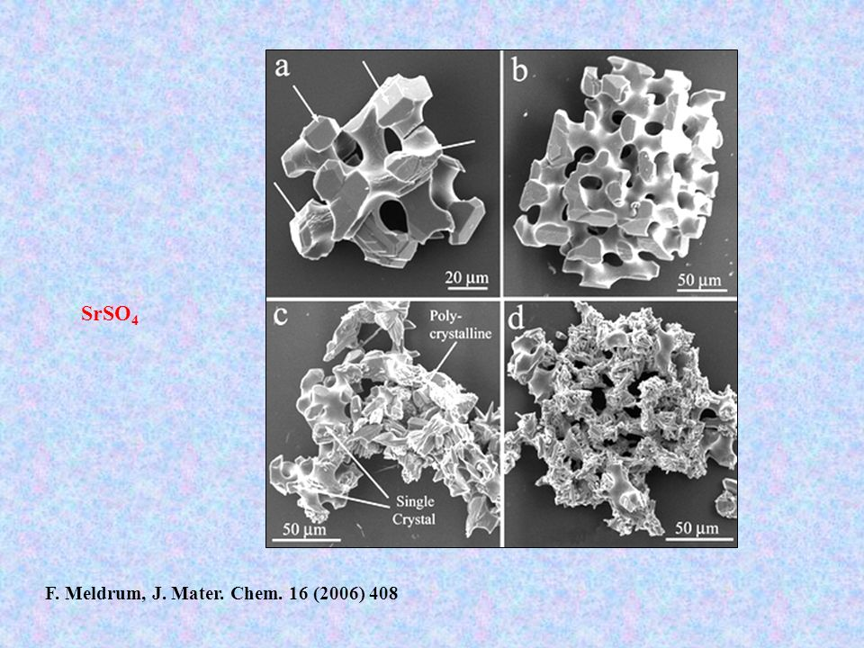 SrSO4 F. Meldrum, J. Mater. Chem. 16 (2006) 408