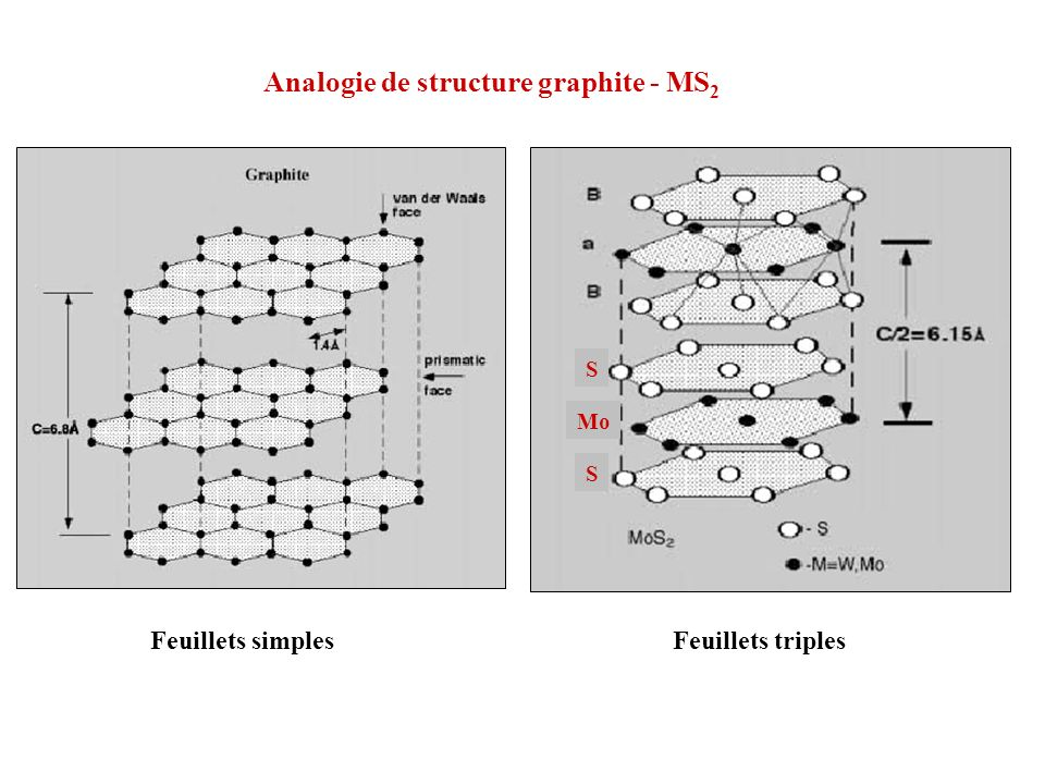 Analogie de structure graphite - MS2