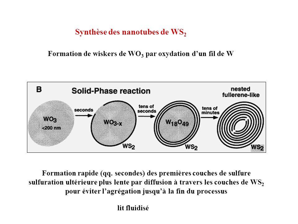 Synthèse des nanotubes de WS2