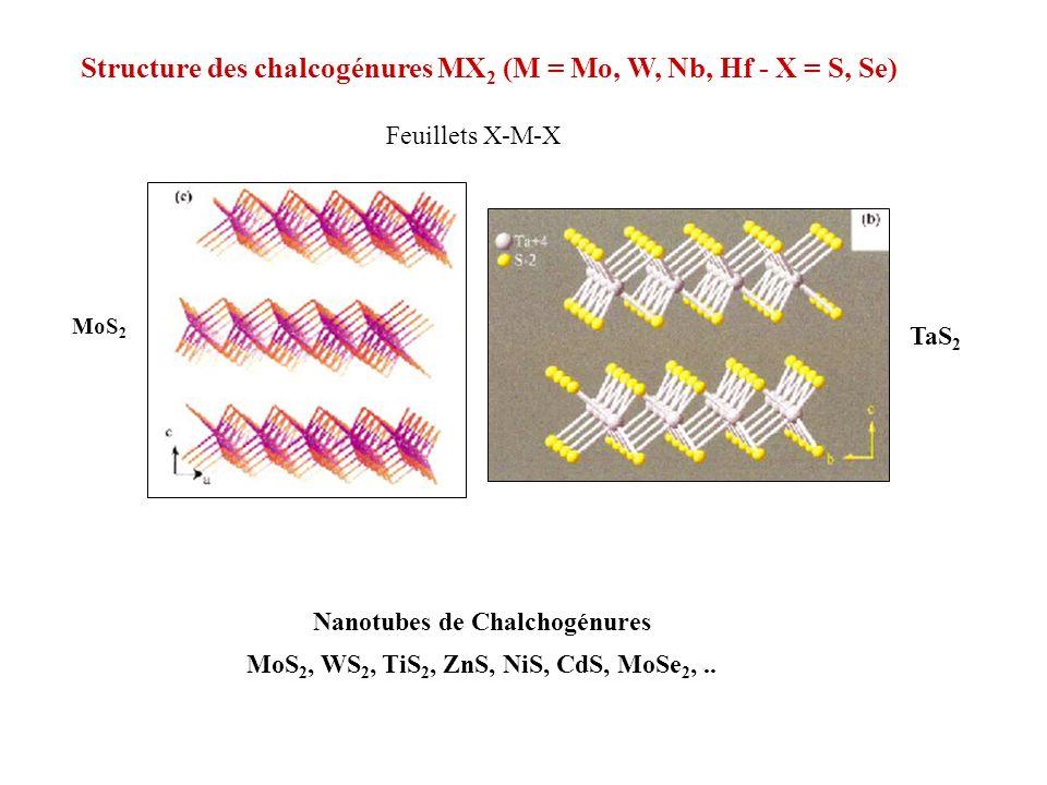 Nanotubes de Chalchogénures MoS2, WS2, TiS2, ZnS, NiS, CdS, MoSe2, ..