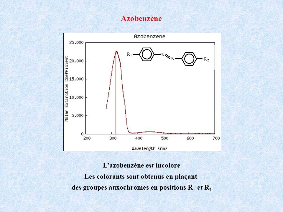 Azobenzène L'azobenzène est incolore