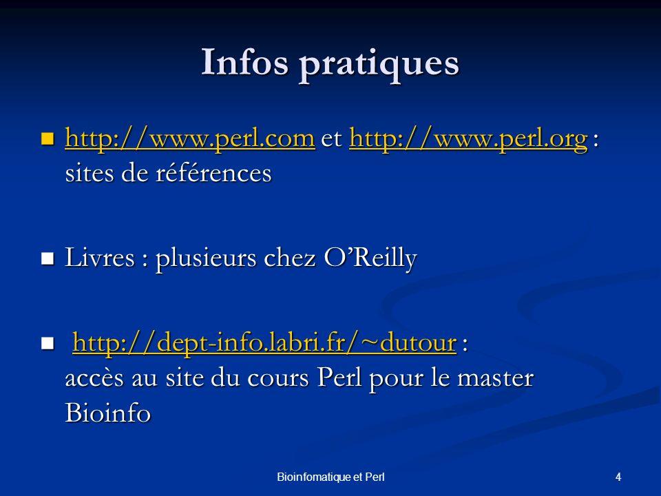 Bioinfomatique et Perl