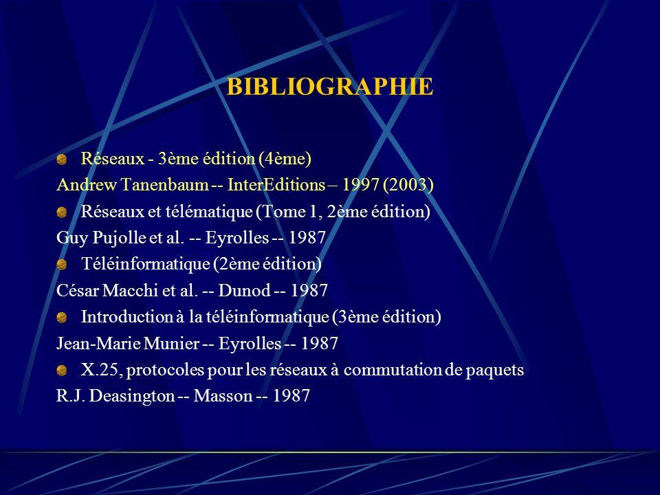 BIBLIOGRAPHIE Réseaux - 3ème édition (4ème)