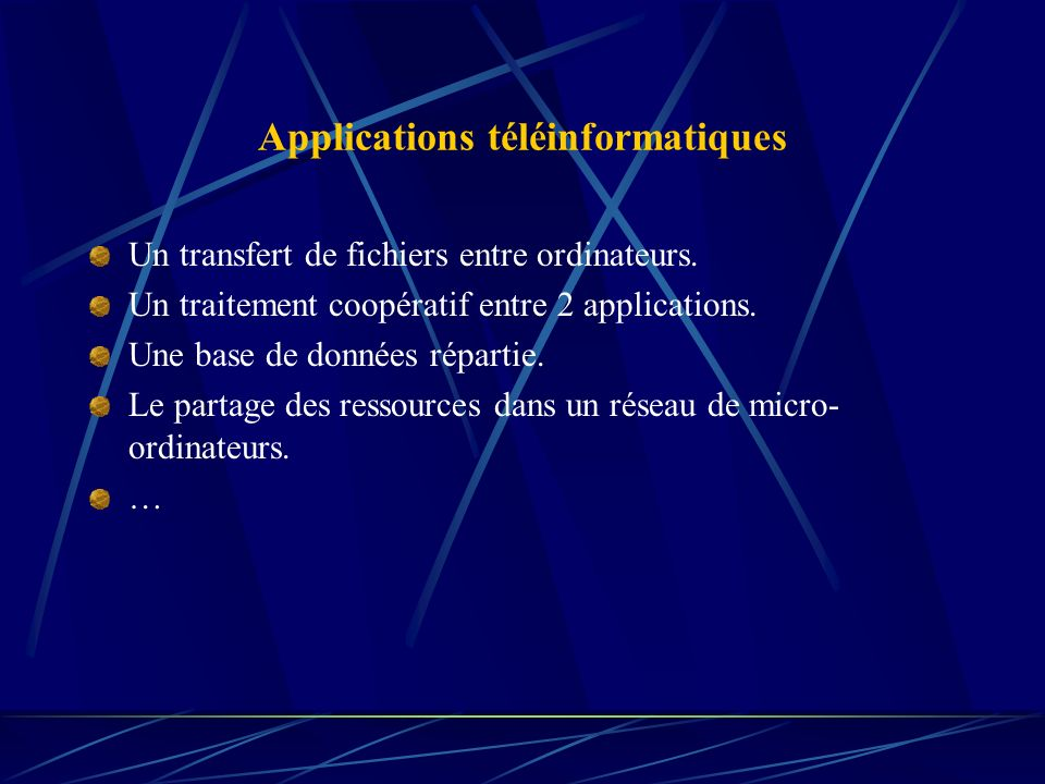 Applications téléinformatiques