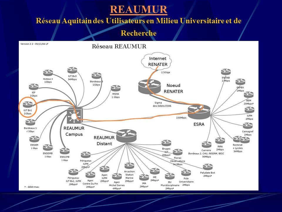 REAUMUR Réseau Aquitain des Utilisateurs en Milieu Universitaire et de Recherche