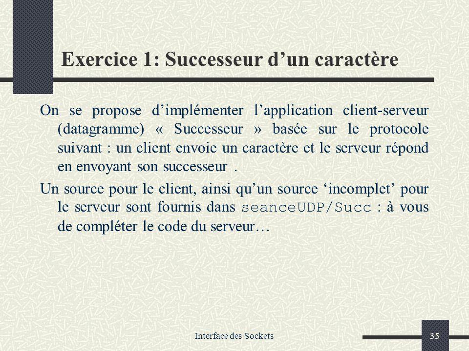 Exercice 1: Successeur d'un caractère