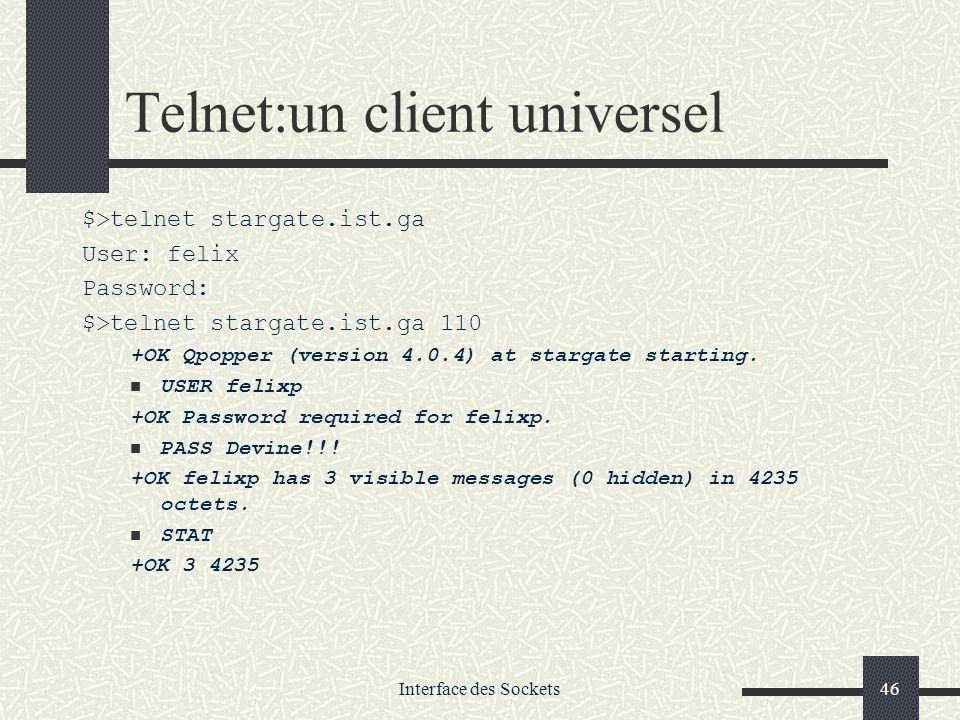 Telnet:un client universel