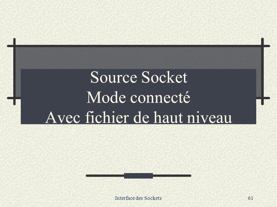 Source Socket Mode connecté Avec fichier de haut niveau